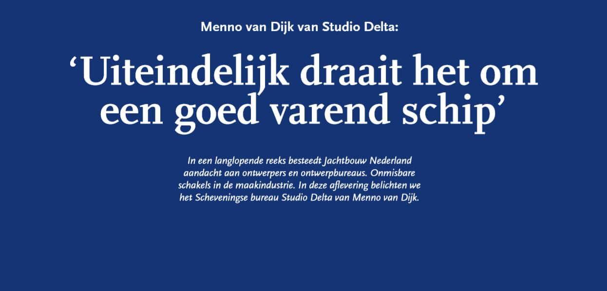 Publicatie in Jachtbouw Nederland: Studio Delta