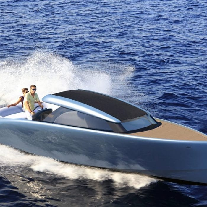 Steeler tender to superyacht