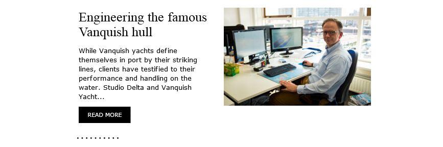 De engineering van de famous Vanquish hull